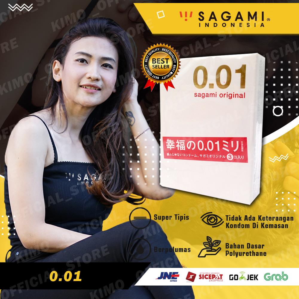 Kondom Sagami Original 0.01 - Isi 3 pcs