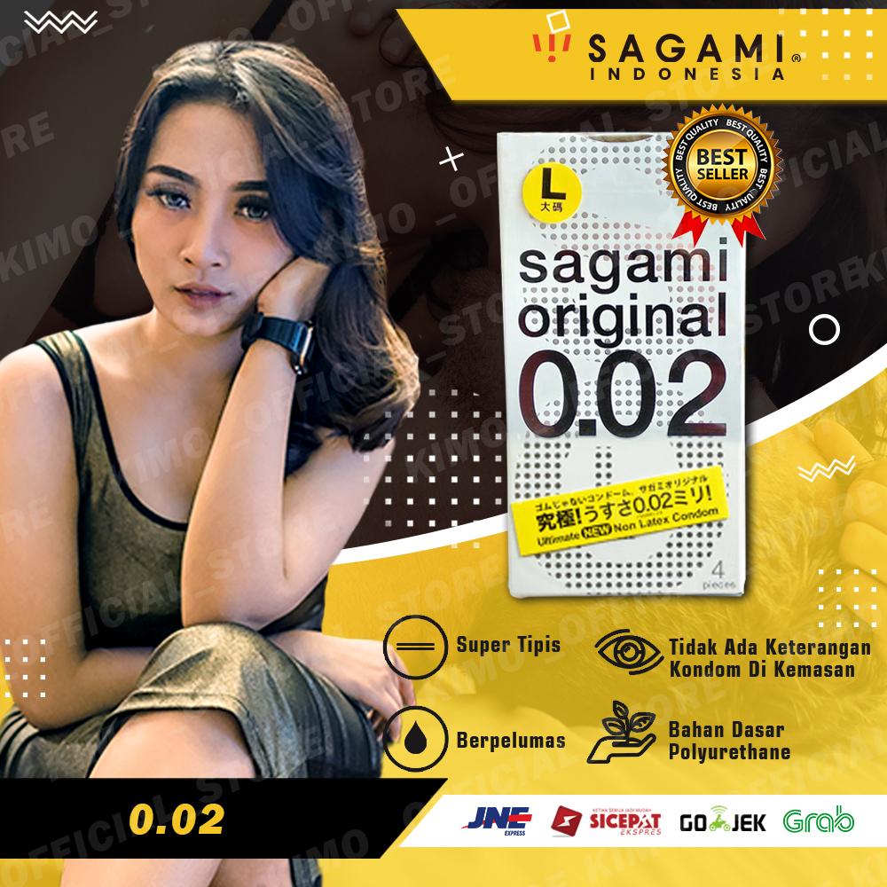 Kondom Sagami Original 002 (L) - Isi 4 Pcs