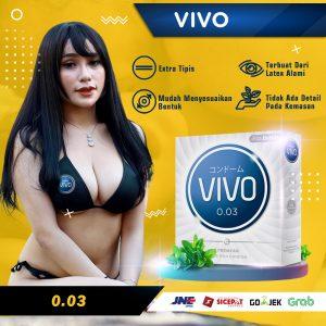 Kondom Vivo 0.03 Superthin Original isi 3 pcs